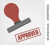 approved stamp | Shutterstock .eps vector #140693332