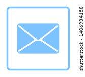mail icon. blue frame design....