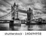 Tower Bridge In London  The Uk. ...