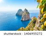 Famous Faraglioni Rocks  Capri...
