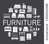 furniture silhouette icons sale ... | Shutterstock .eps vector #1406962088