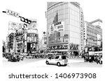 Tokyo  Famous Shibuya Crossroa...