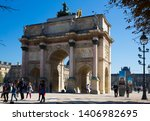 paris  france   october 10 ... | Shutterstock . vector #1406982695