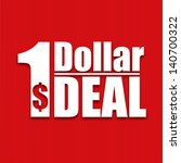 dollar deal poster on a red... | Shutterstock .eps vector #140700322
