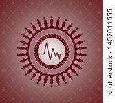 electrocardiogram icon inside... | Shutterstock .eps vector #1407011555