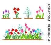 summer and spring blossom...   Shutterstock .eps vector #1407034505
