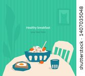 vector illustration of healthy... | Shutterstock .eps vector #1407035048