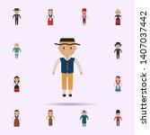 sweden  man cartoon icon.... | Shutterstock . vector #1407037442