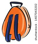 orange backpack with two blue...   Shutterstock .eps vector #1407043202