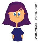 a girl with nice and short... | Shutterstock .eps vector #1407078905