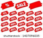 set of red brush strokes sale...   Shutterstock .eps vector #1407096035