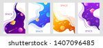 set of abstract space... | Shutterstock .eps vector #1407096485