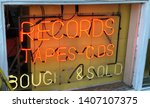 Vintage Neon Sign In Record...
