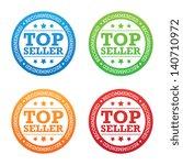 recommended top seller label | Shutterstock .eps vector #140710972