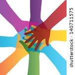 teamwork design over white... | Shutterstock .eps vector #140711575