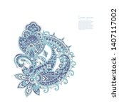 paisley isolated pattern.... | Shutterstock . vector #1407117002
