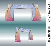3d gate entrance event...   Shutterstock .eps vector #1407117605