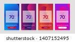 dynamic modern fluid mobile for ... | Shutterstock .eps vector #1407152495