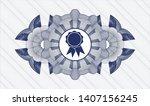 blue rosette  money style... | Shutterstock .eps vector #1407156245