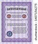 violet invitation. modern... | Shutterstock .eps vector #1407156275