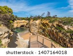 View Of The Loch Ard Gorge In...