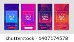 dynamic modern fluid mobile for ... | Shutterstock .eps vector #1407174578