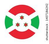 round flag of burundi. isolated ...   Shutterstock .eps vector #1407186242