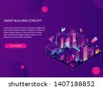 landing page for smart city... | Shutterstock . vector #1407188852