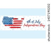 happy independence day 4th of...   Shutterstock .eps vector #1407190202
