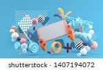 smart phones and devices ... | Shutterstock . vector #1407194072
