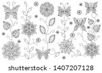 black and white coloring... | Shutterstock .eps vector #1407207128