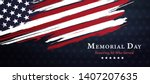 memorial day background united... | Shutterstock .eps vector #1407207635