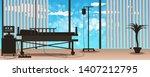 bright interior of the modern... | Shutterstock .eps vector #1407212795