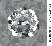 couch icon inside grey camo... | Shutterstock .eps vector #1407215435