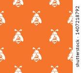 bee pattern vector orange for... | Shutterstock .eps vector #1407218792