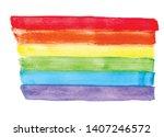 lgbt pride rainbow flag ... | Shutterstock .eps vector #1407246572