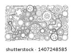auto spare parts and gears ...   Shutterstock .eps vector #1407248585