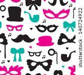 seamless hipster illustration...   Shutterstock .eps vector #140724922