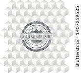 gold membership grey emblem.... | Shutterstock .eps vector #1407259535