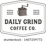 vintage coffee grinder logo  ... | Shutterstock .eps vector #1407259772