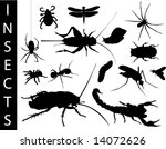 a collection of insect... | Shutterstock .eps vector #14072626