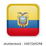 ecuador flag bright square icon....   Shutterstock .eps vector #1407265298