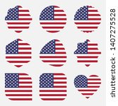 flags united states america...   Shutterstock .eps vector #1407275528