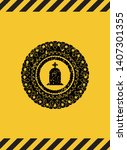tombstone icon black grunge... | Shutterstock .eps vector #1407301355