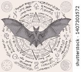 vector illustration with a bat... | Shutterstock .eps vector #1407303572