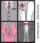 wedding invitation card   bride ... | Shutterstock .eps vector #140731192