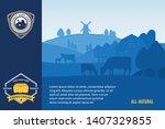 modern style cheese logo. dairy ... | Shutterstock .eps vector #1407329855
