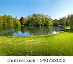 Spring Park. Lake In The Sprin...