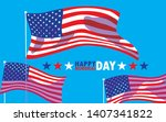 happy memorial day card with...   Shutterstock .eps vector #1407341822