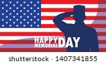happy memorial day card with...   Shutterstock .eps vector #1407341855